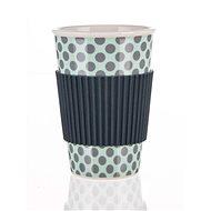BANQUET Hrnček keramický so silikónovým viečkom GO, 400 ml, sivý, 4 ks