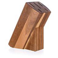 BANQUET Stojan drevený pre 5 nožov BRILLANTE Acacia 23 × 11 × 10 cm - Stojan na nože