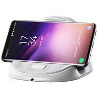 Baseus Silicone Horizontal Desktop Wireless Charger White - Bezdrôtová nabíjačka