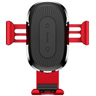 Baseus Wireless Charger Gravity Car Mount Red - Bezdrôtová nabíjačka