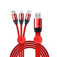 Baseus Car Co-sharing Cable USB 3.5A 1m Red - Redukcia