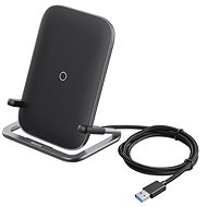 Bezdrôtová nabíjačka Baseus Rib Horizontal and Vertical Holder Wireless Charging 15W Black
