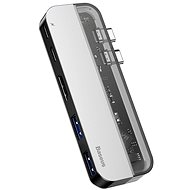 Baseus Transparent Series Dual Type-C Multifunctional HUB Adapter, Deep gray - USB Hub