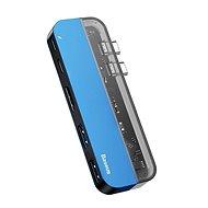 Baseus Transparent Series Dual Type-C Multifunctional HUB Adapter, Blue - USB Hub