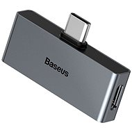 Baseus Type-C (M) to USB-C & 3,5 mm Jack (F) Adaptér L57 Black - Redukcia