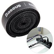 Organizér káblov Baseus Rainbow Circle Velcro Straps 1 m Black - Organizér kabelů