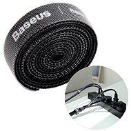 Organizér káblov Baseus Rainbow Circle Velcro Straps 3 m Black - Organizér kabelů