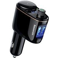 Baseus Locomotive BT MP3 FM Transmitter Cigarette Lighter Car Charger Black - Nabíjačka do auta