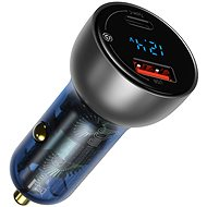 Baseus Digital Display PPS Dual Quick Car Charger 65 W Light Ochre - Nabíjačka do auta