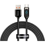 Baseus Display Fast Charging Data Cable USB to Type-C 5A 2 m Black