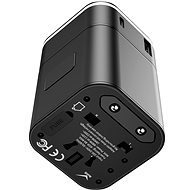 Baseus Removable 2 in 1 Universal Travel Adapter PPS Quick Charger Edition Black - Cestovný adaptér