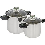 Bo-Camp Cookware set Elegance Compact 2 Stainless steel - Kempingový riad