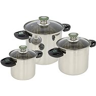 Bo-Camp Cookware set Elegance Compact 3 Stainless steel - Kempingový riad