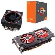 AMD akčný balíček 4: VGA + CPU + Chladič - Set