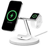 Bezdrôtová nabíjačka Belkin BOOST CHARGE PRO MagSafe 3 v 1 Bezdrôtové nabíjanie pre iPhone/Apple Watch/AirPods, biela