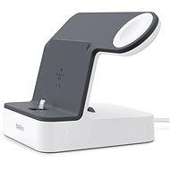 Belkin PowerHouse Charge Dock pre Apple Watch + iPhone biely/čierny - Dobíjací stojanček