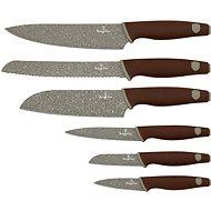 Berlingerhaus Súprava kuchynských nožov 6 ks Granit Diamond Line hnedý - Sada nožov
