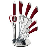 BerlingerHaus Sada nožov v stojane 8 ks Infinity Line červená - Súprava nožov