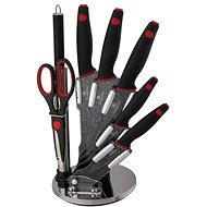 BerlingerHaus Súprava nožov v stojane 8ks Black Stone Touch Line - Súprava nožov