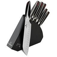 BerlingerHaus Súprava nožov v drevenom stojane Phantom Line 6 ks - Súprava nožov
