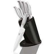 BerlingerHaus Súprava nožov v stojane Carbon Metallic Line 6 ks - Sada nožov