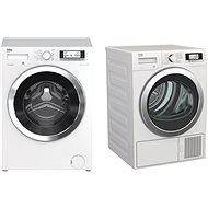 Beko WTV 8735 XC0ST + BEKO DE8635CSDRX0 - Set práčka a sušička