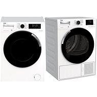 BEKO WTV 8744 CSXW0 + BEKO DH 8544 CSFRX - Set práčka a sušička