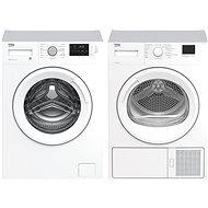 BEKO WRE 7612 XWW + BEKO HDF 7412 CSRX - Set práčka a sušička