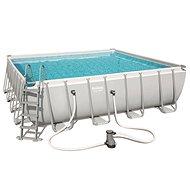 BESTWAY Square Pool Set 4,88 m × 4,88 m × 1,22 m - Bazén