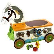 Bigjigs Drevený motorický vozík - Koník - Herná súprava