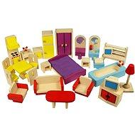Bigjigs Drevený nábytok do domčeka pre bábiky - Herná súprava