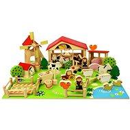 Bigjigs Veľká drevená farma - Herný set