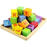 Drevené kocky s abecedou - Herná súprava
