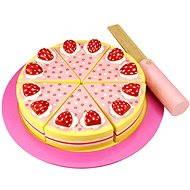 Drevená krájacia torta s jahodami - Herný set
