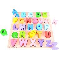 Bigjigs Drevená motorická vzdelávacia hračka - Abeceda - Didaktická hračka