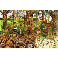 Drevené puzzle – Lesný svet - Puzzle