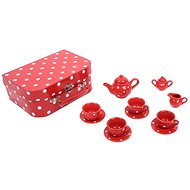 Bigjigs Červený bodkovaný čajový set - Herný set
