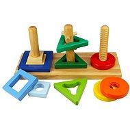 Drevená motorická hračka – Nasaď a otoč - Didaktická hračka