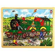 Drevené puzzle – Vlak - Puzzle