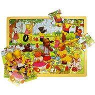 Drevené puzzle – Medvedí piknik - Puzzle