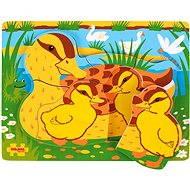 Bigjigs Vkladacie drevené puzzle - Kačice - Puzzle