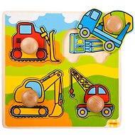 Drevené vkladacie puzzle – Stavebné stroje - Puzzle