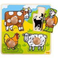 Drevené vkladacie puzzle – Farma - Puzzle