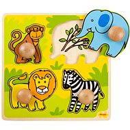 Drevené vkladacie puzzle – Safari - Puzzle