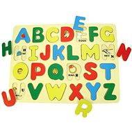 Bigjigs Drevené vkladacie puzzle - Anglická abeceda s obrázkami - Puzzle