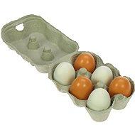 Drevené potraviny – Drevené vajíčka v škatuľke - Herný set