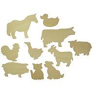 Bigjigs Drevené obkreslovacie vzory - Obrázky domácich zvierat - Kreatívna súprava