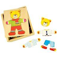 Drevené obliekacie puzzle v krabičke – Pán Medveď - Puzzle