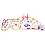Bigjigs Drevená železnica pre princezné - Vláčikodráha