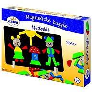 Detoa Magnetické puzzle Medvede - Puzzle